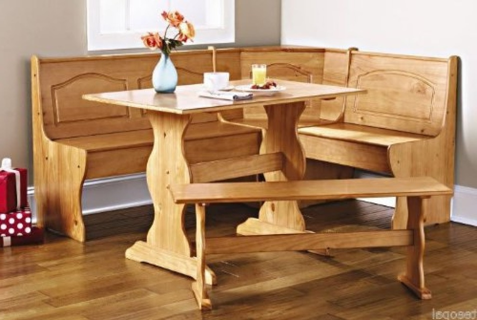 Wood Breakfast Nook Furniture ~ Breakfast nook dining set country kitchen table booth